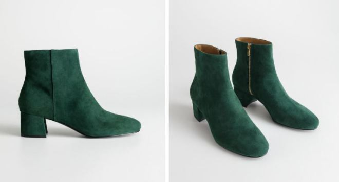 & Other Stories Suede Ankle Boots £85