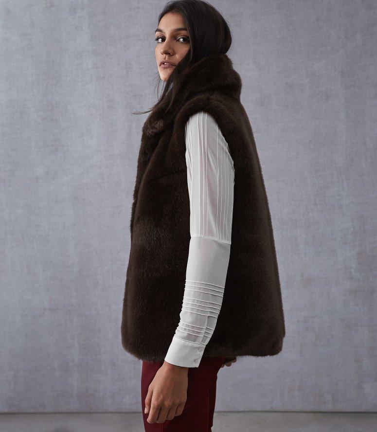 Reiss Faux Fur Gilet £295