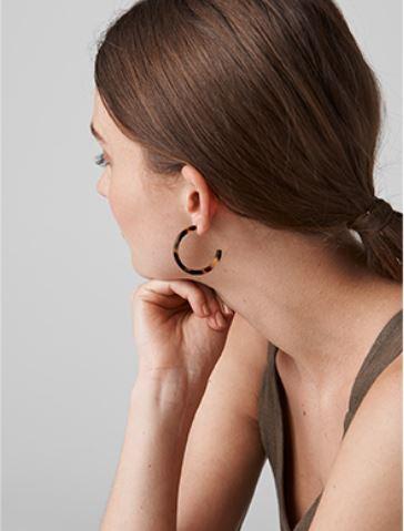 Whistles Tortoise shell resin earrings £25