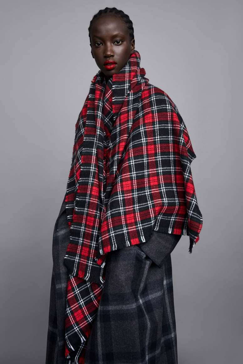 Zara Soft Check Scarf £17.99