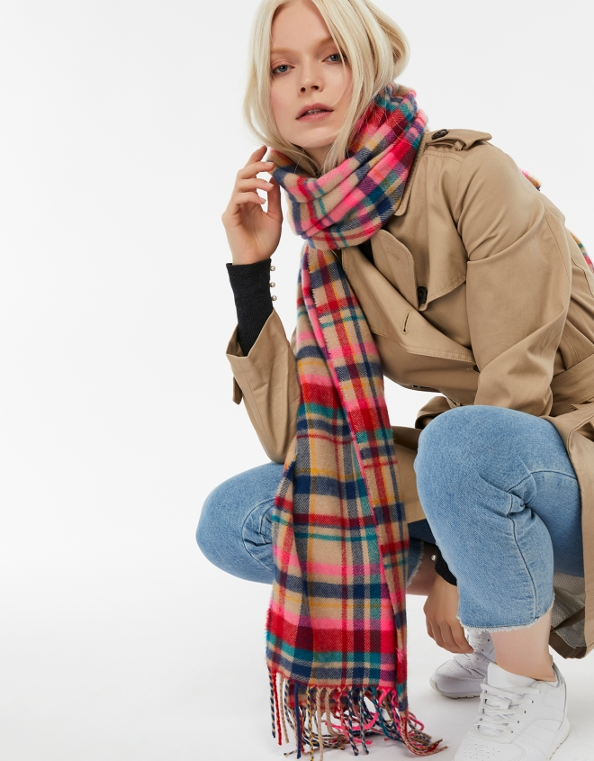 Accessorize Borough Check Blanket Scarf £16, was £20