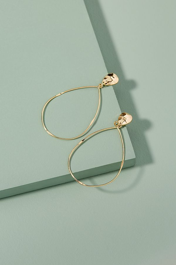 Anthropologie Imani Teardrop Hoop Earring £34