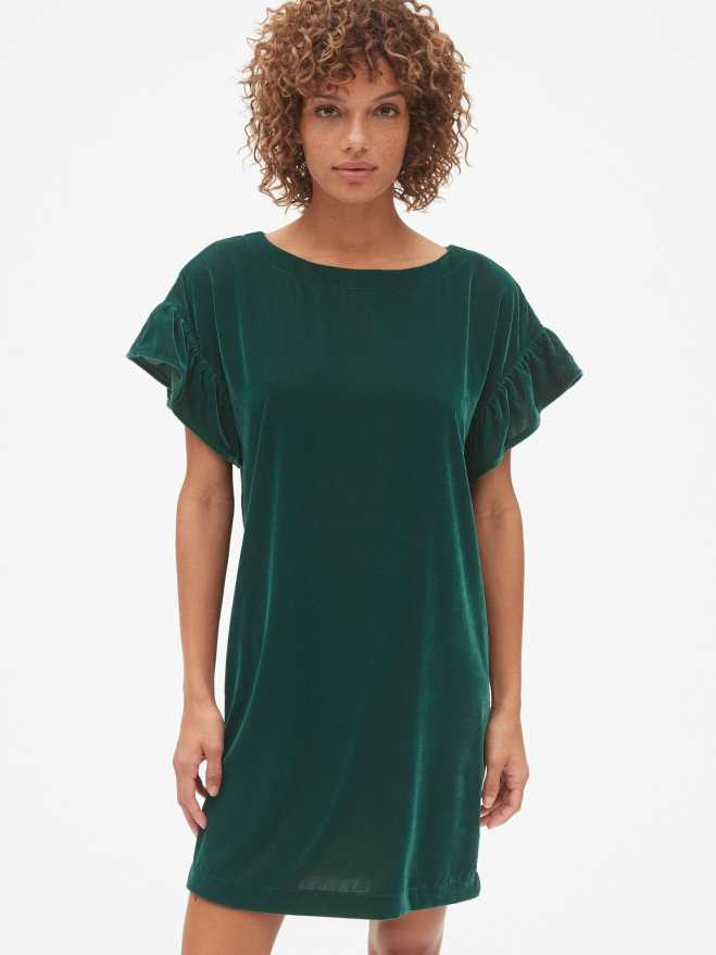 gap-velvet-ruffle-sleeve-dress-£54.95