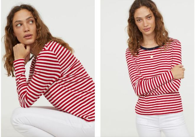 H&M Striped jersey top £12.99
