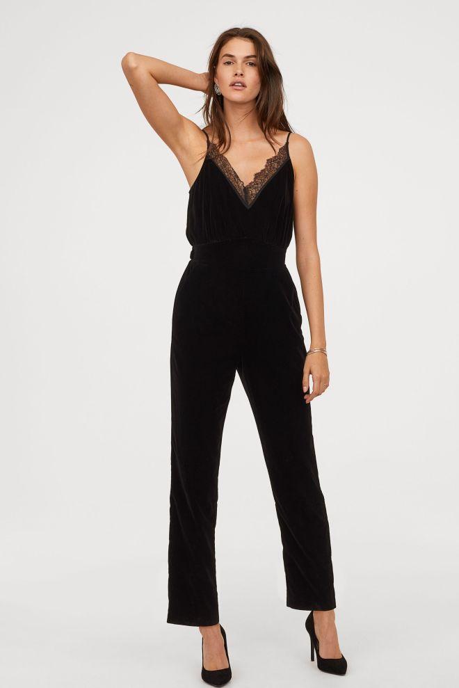 H&M Velvet Jumpsuit £34.99