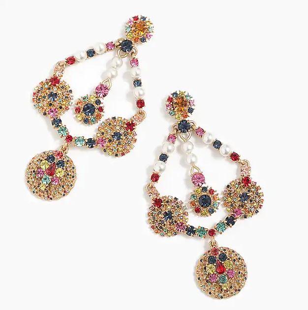 J Crew Crystal & Pearl chandelier earrings £65