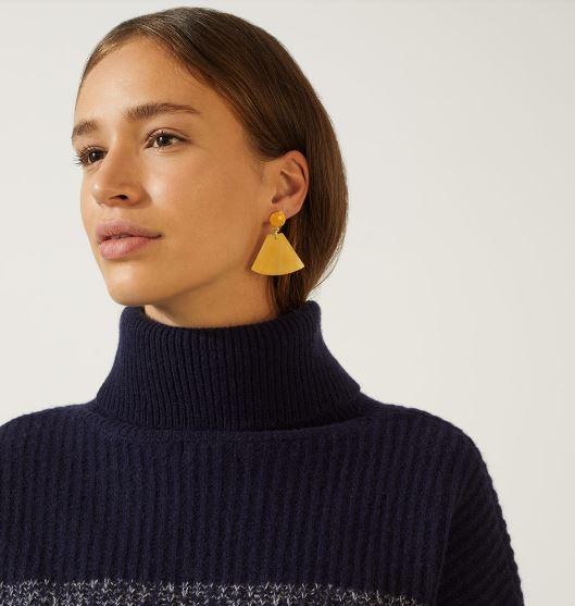 Jigsaw Resin Triangle Earrings £30