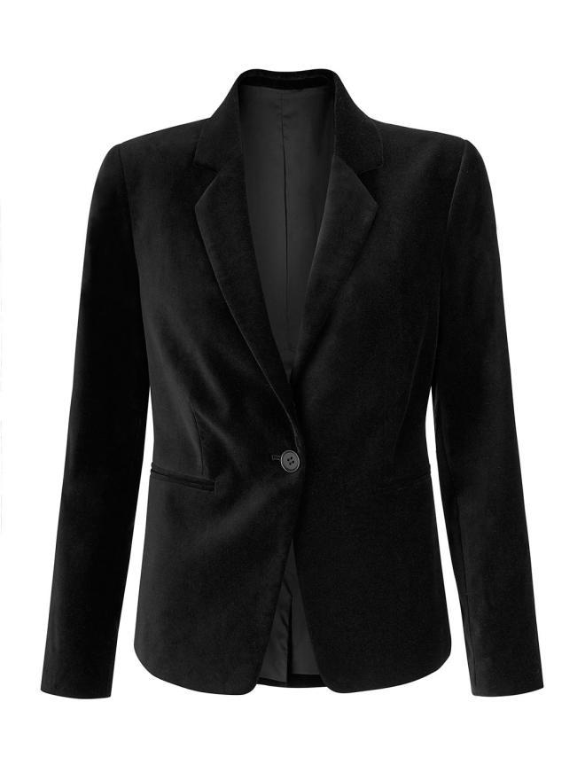 john-lewis-partners-velvet-blazer-black-£130