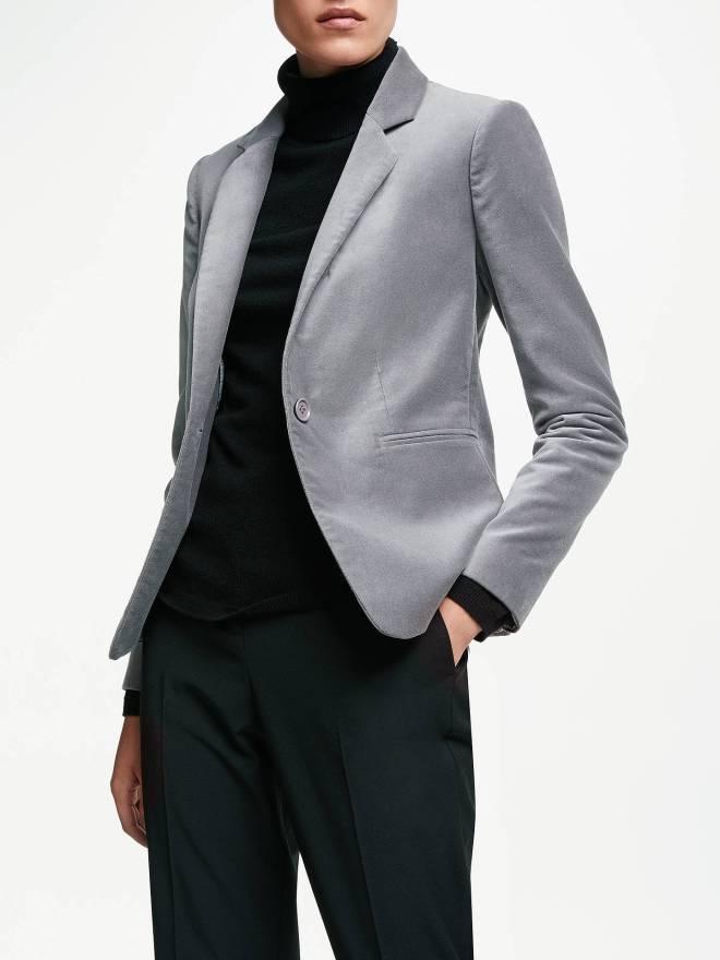 john-lewis-partners-velvet-blazer-grey-£130