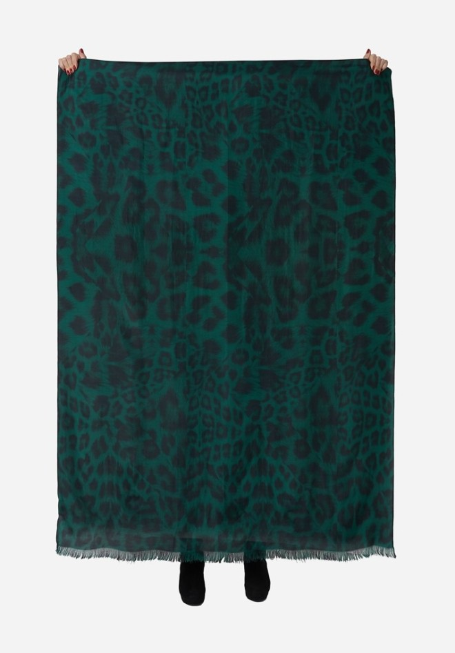 Lily & Lionel Kitty Emerald Scarf £140