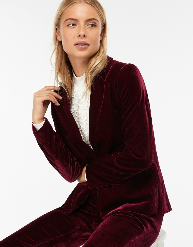 Monsoon Louise Velvet Blazer £80