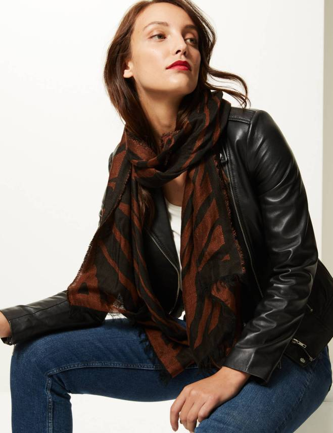 M&S Animal Print Scarf £22.50