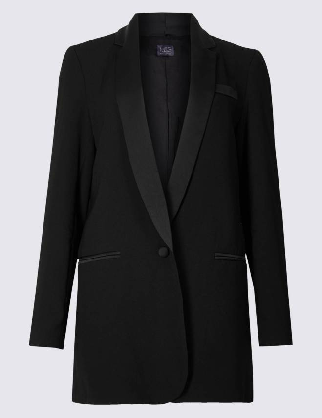 M&S Longline Tuxedo jacket £79