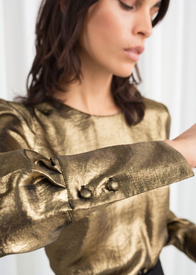& Other Stories Metallic Satin Blouse £69