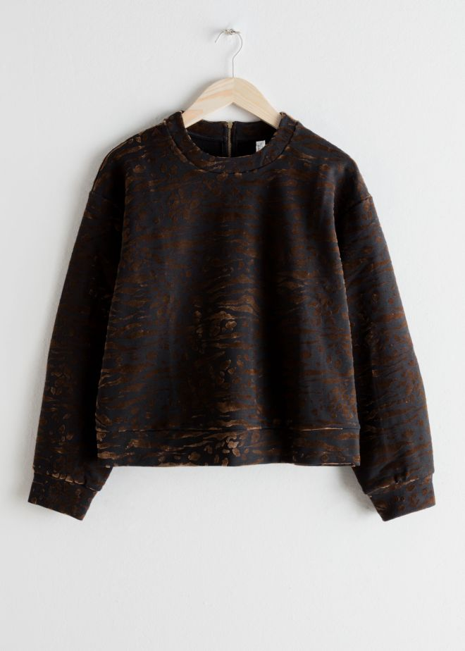 & Other Stories Animal Print Pull Over £49