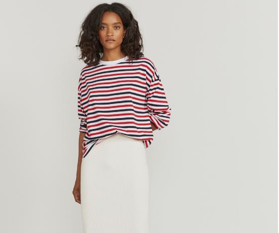 Ninety Percent Tri-colour-stripe long sleeve t-shirt £45