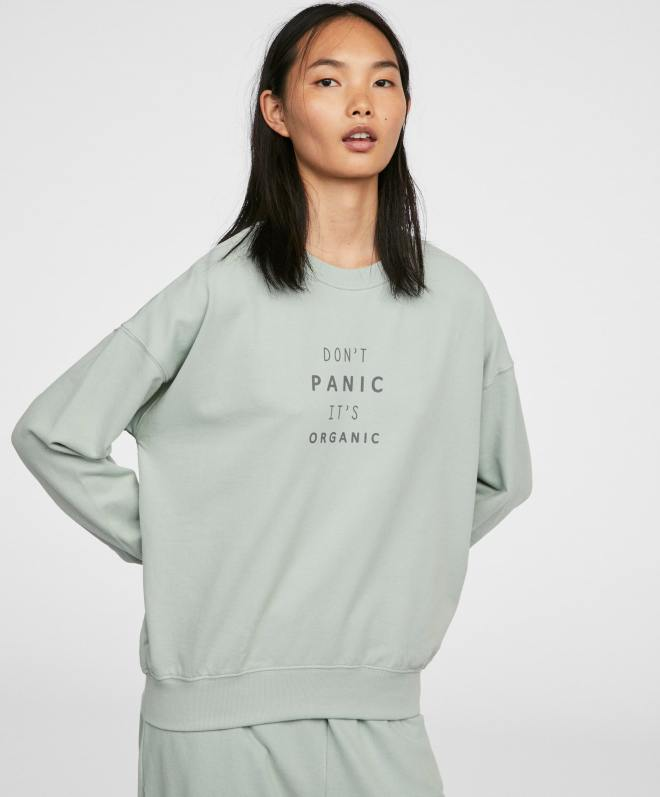 Oysho 'Don't Panic' Long Sleeve Sweatshirt £25.99