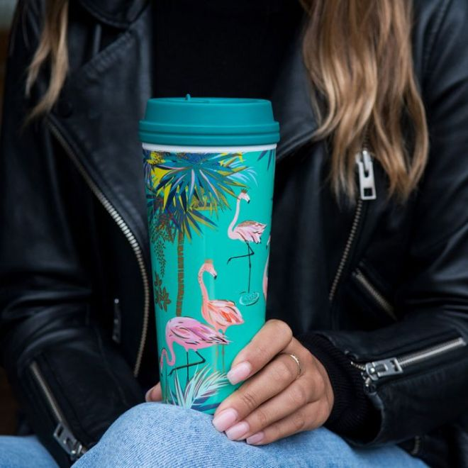 Sara Miller Green Flamingo Thermal Flask £15