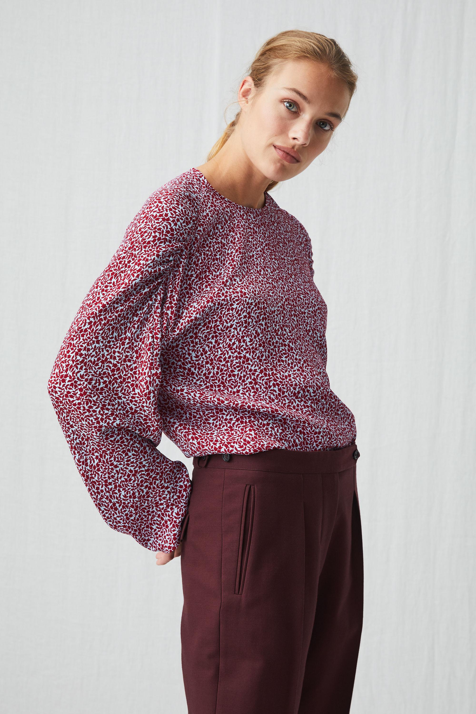 arket floral crepe blouse £40, was £79