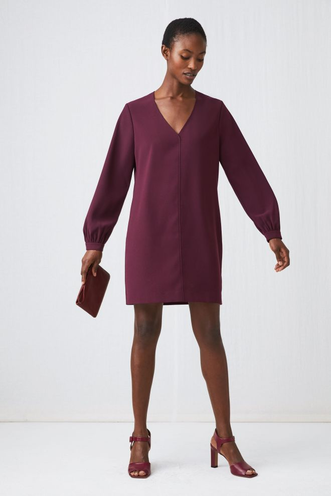 arket v-neck dress £18, £59