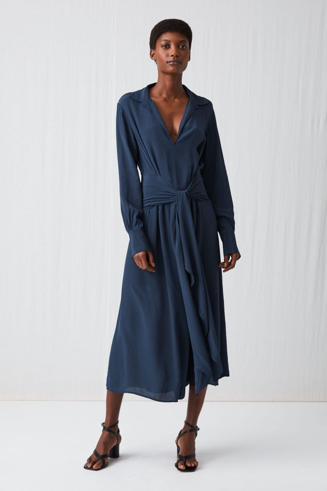 Arket fluid long sleeve dress £99