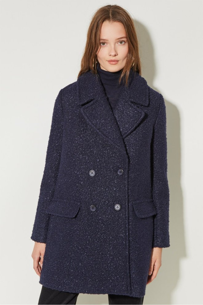 great plains boucle double breasted coat £80, was £160