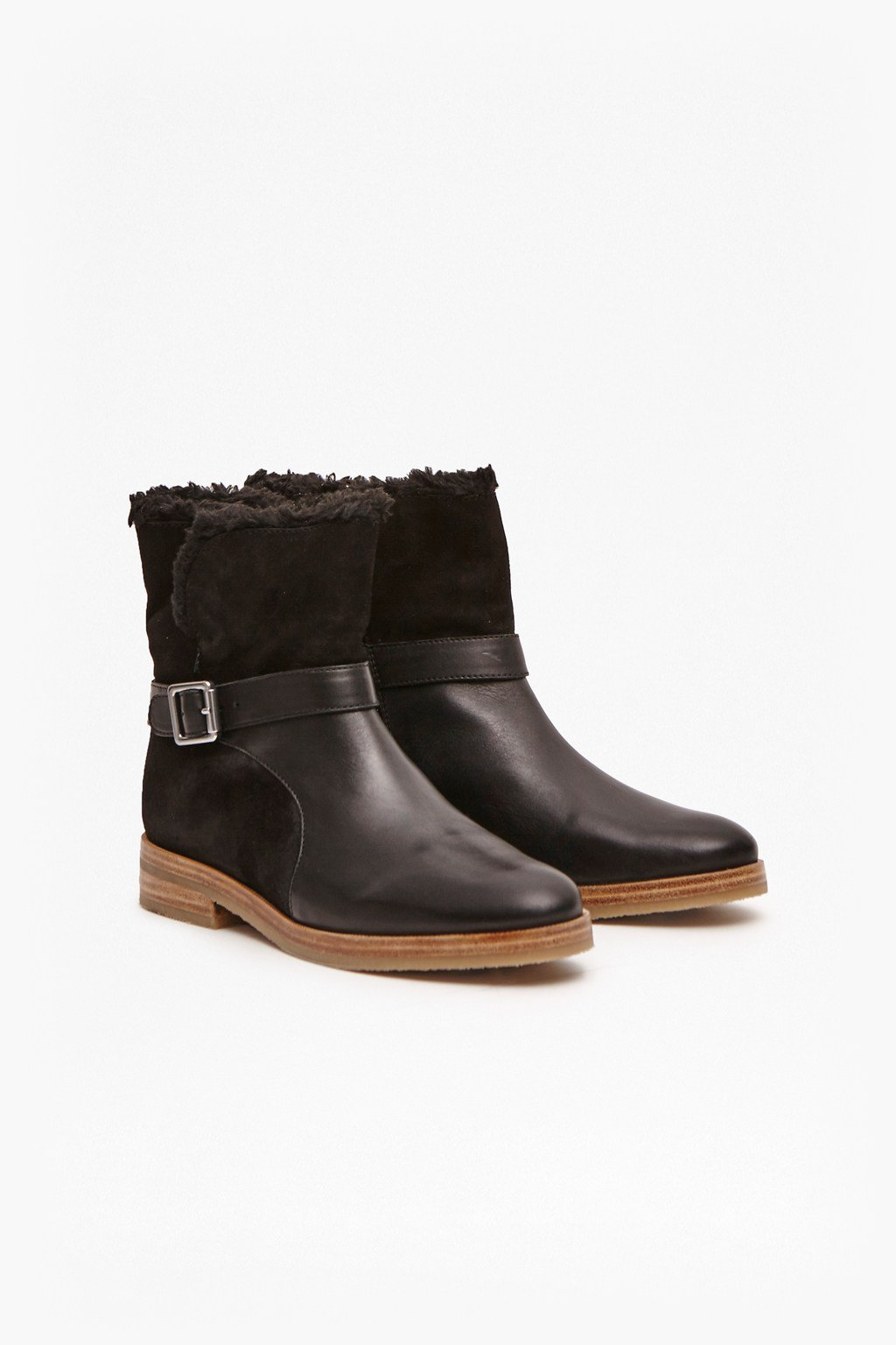 great plains tracker faux fur leather boots £50, were £125
