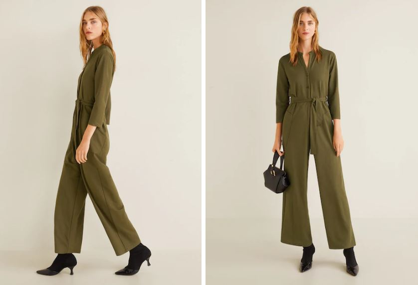 mango long chest pocket jumpsuit £29.99, was £49.99