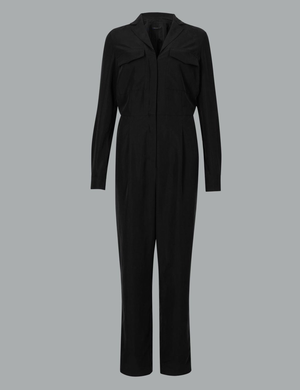 m&s autograph modal rich long sleeve maxi jumpsuit £89
