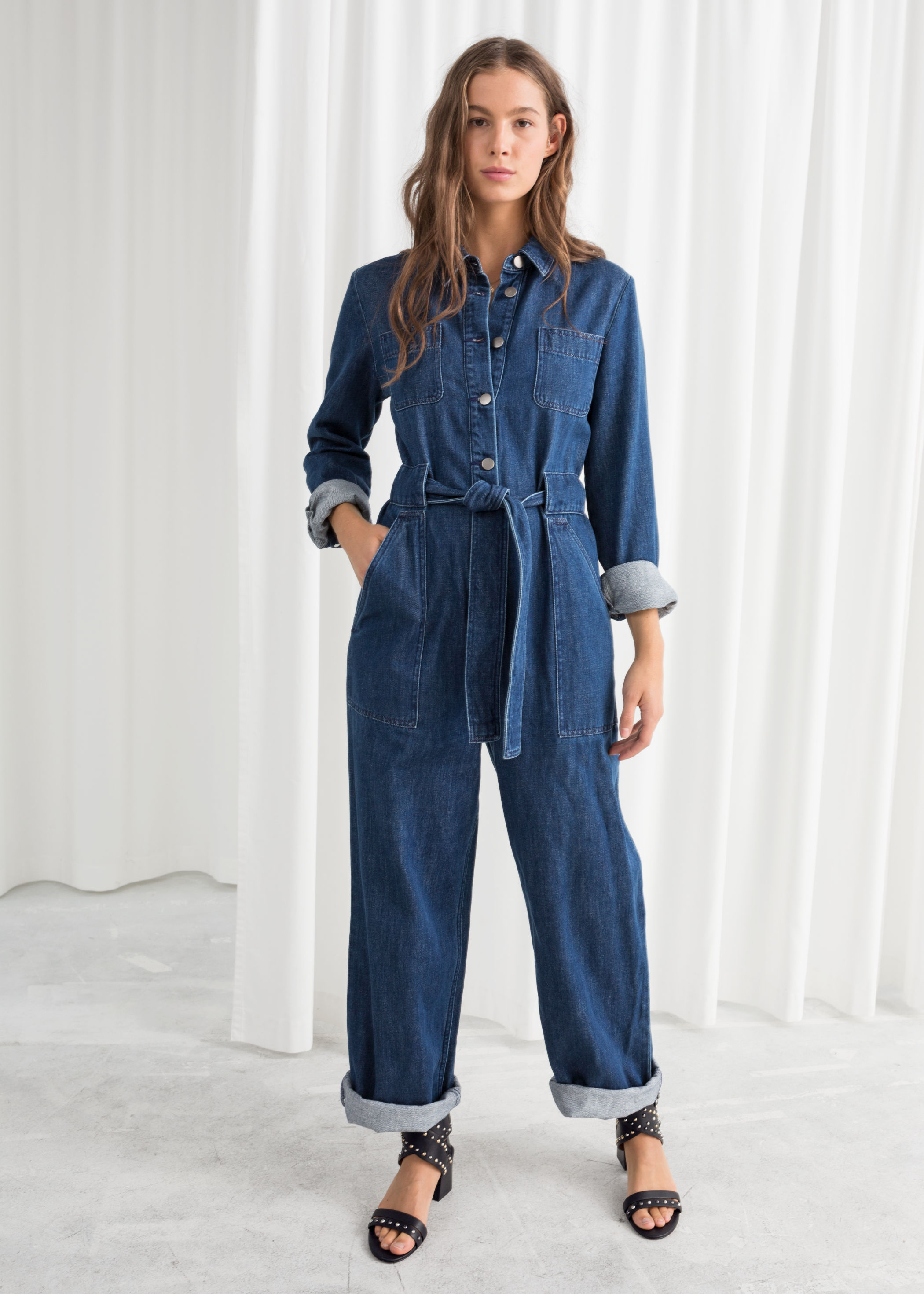 & other stories denim overall jumpsuit £89