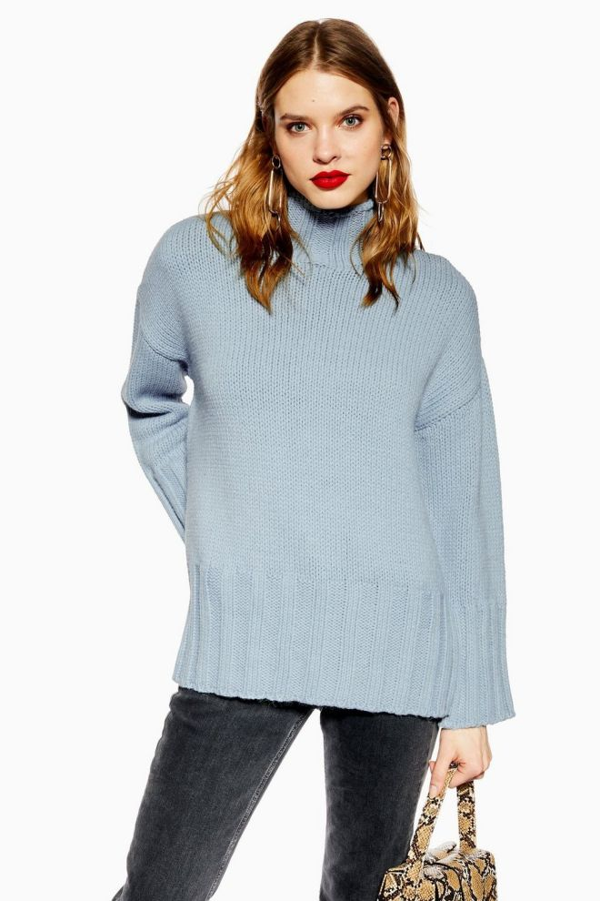 topshop oversized long line jumper £39