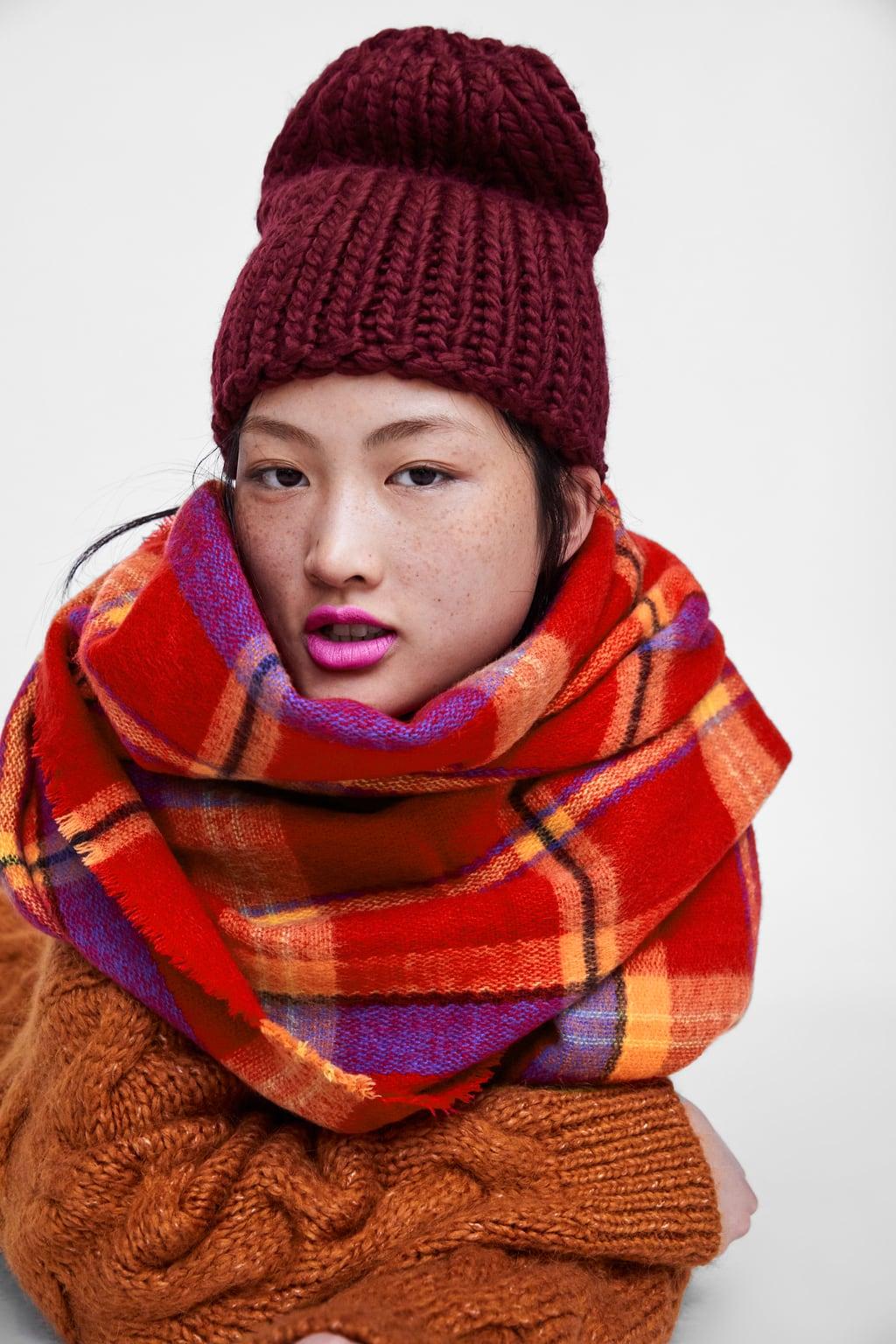 zara check scarf £12.99, was £17.99