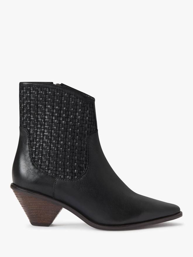 AndOr Priya Ankle Boots Black Leather £109