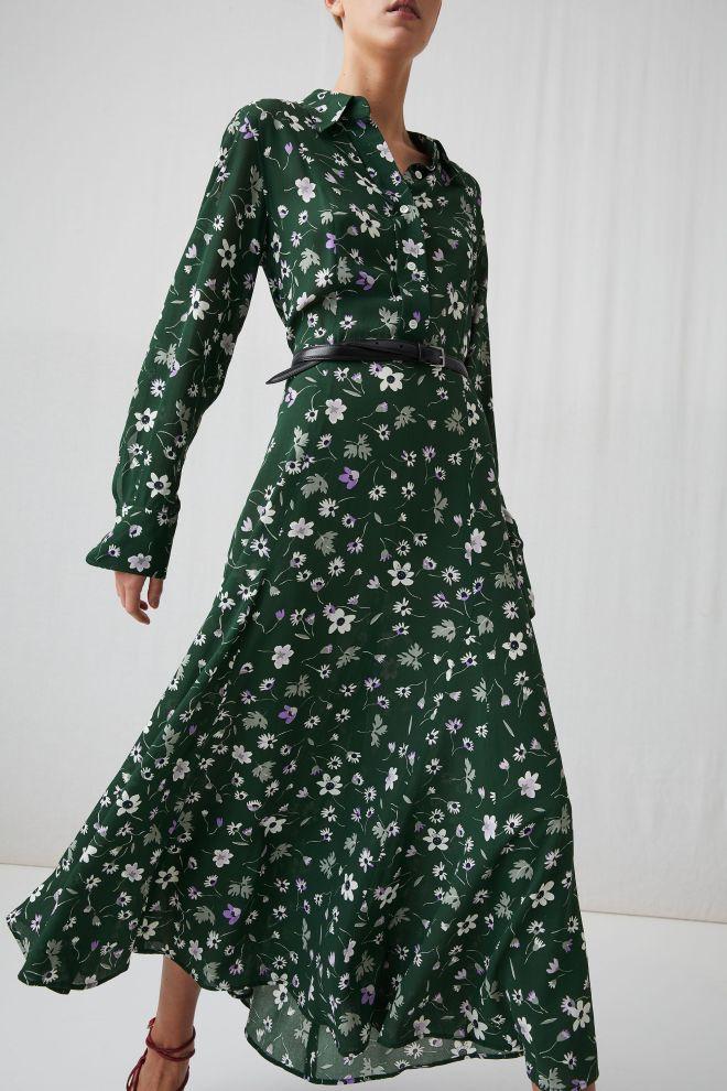 Arket Floral Crepe Dress £125
