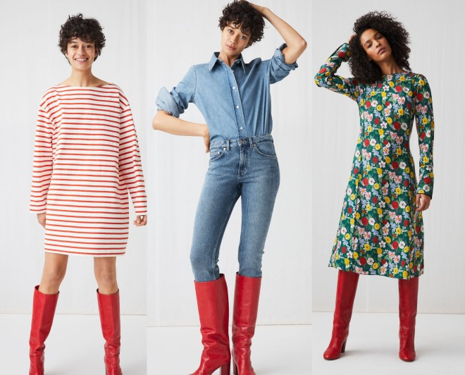 Arket red boots copy