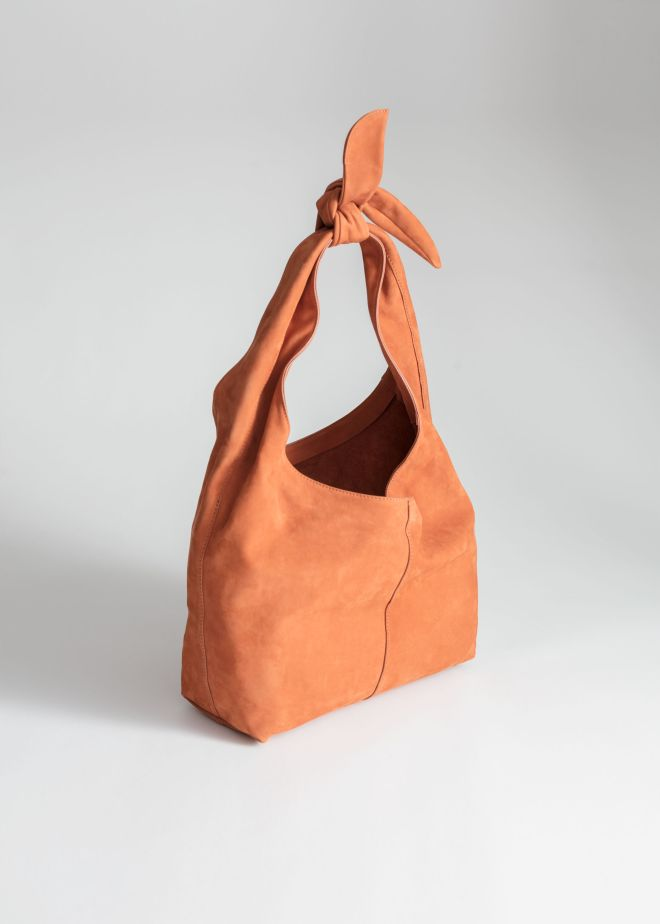 & Other Stories Soft Suede Tie Up Bag £110