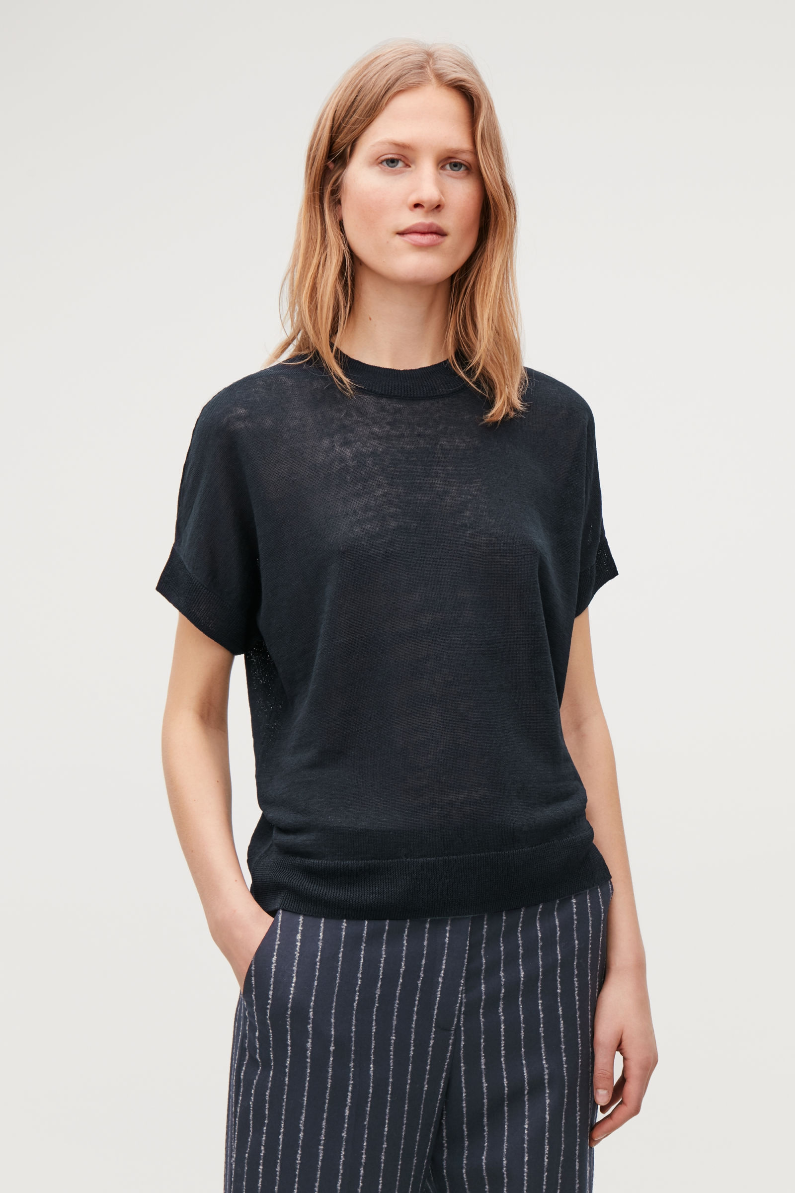 Cos Shaped Linen-Silk knit top £55