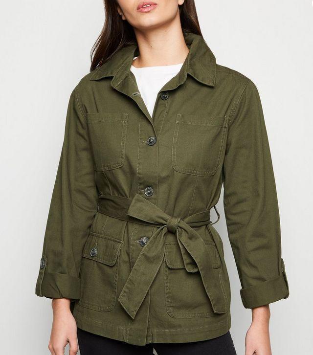 new-look-khaki-belted-shacket-£29.99