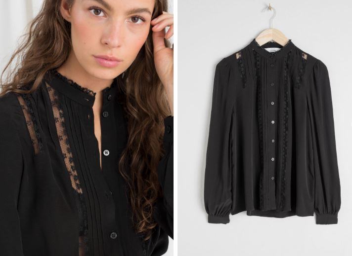 & Other Stories Lace Trim Blouse £59