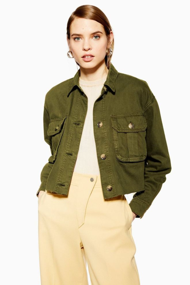Topshop Khaki Raw Hem Shacket £39