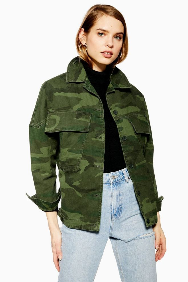 Topshop Oversized Camoflague Shacket £49