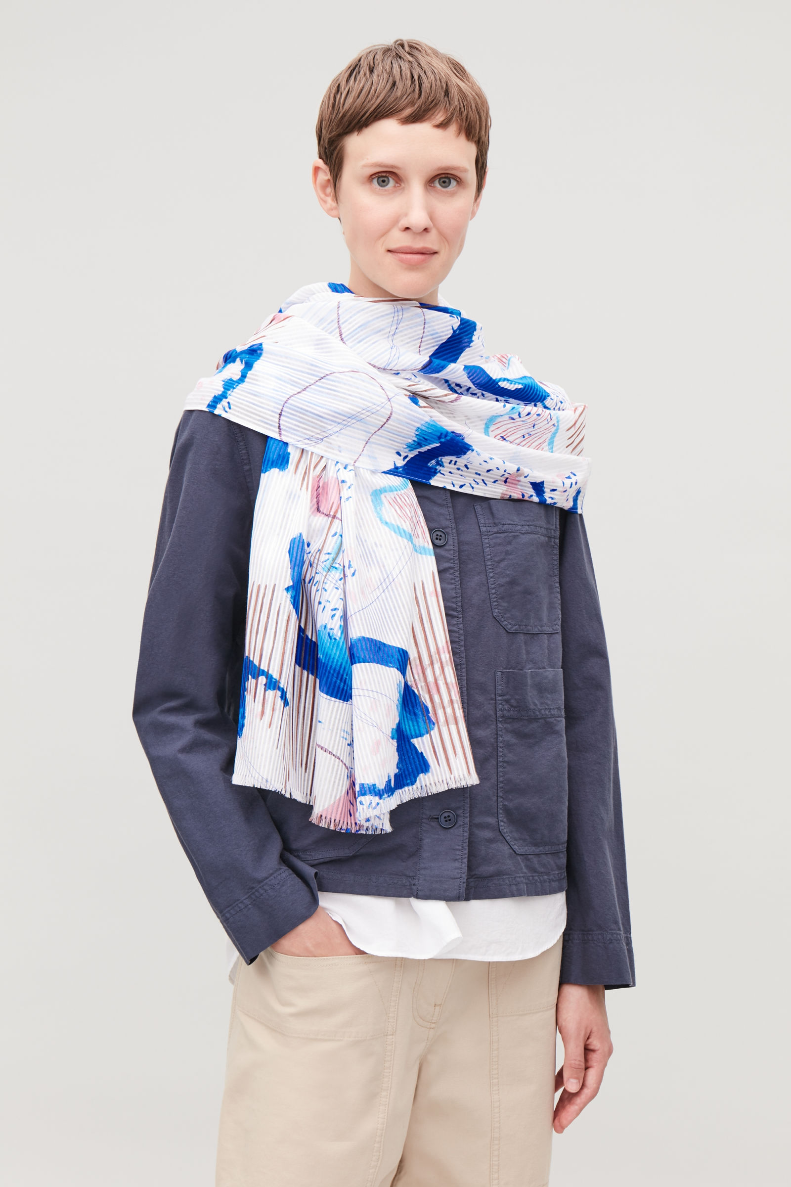 Cos Cotton Silk Scarf £45