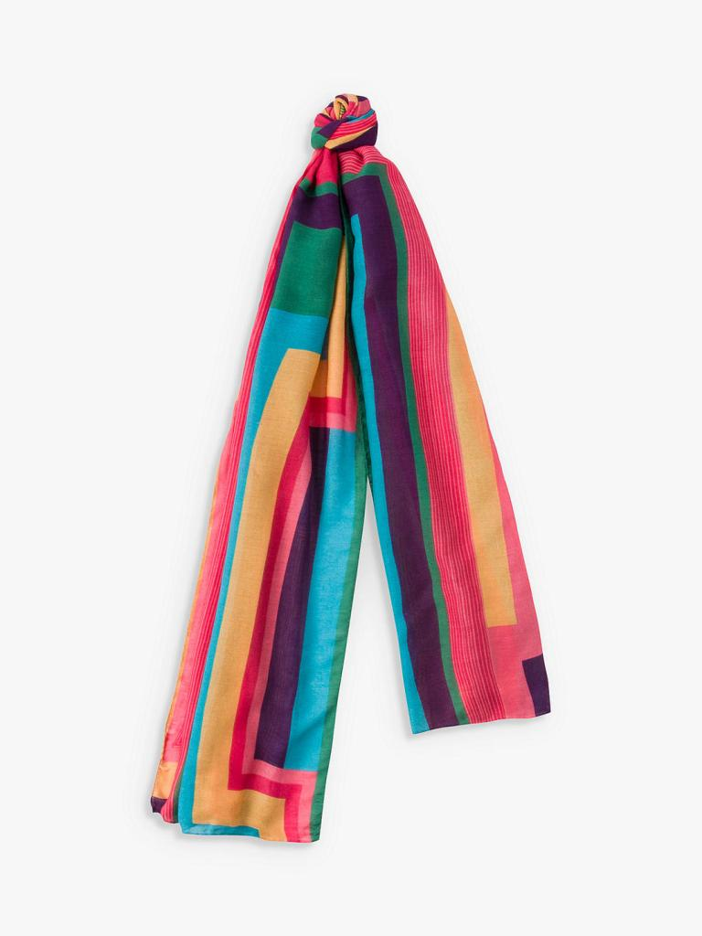 Paul Smith Rainbow Stripe Scarf, Multi, £100
