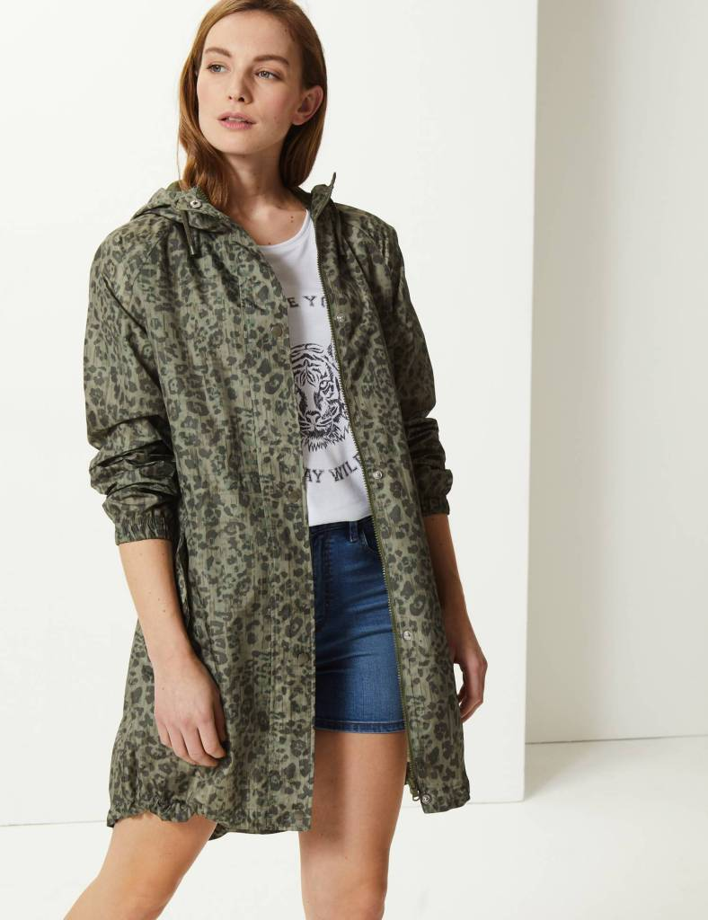 M&S Animal Print Pack Away Parka £29.50