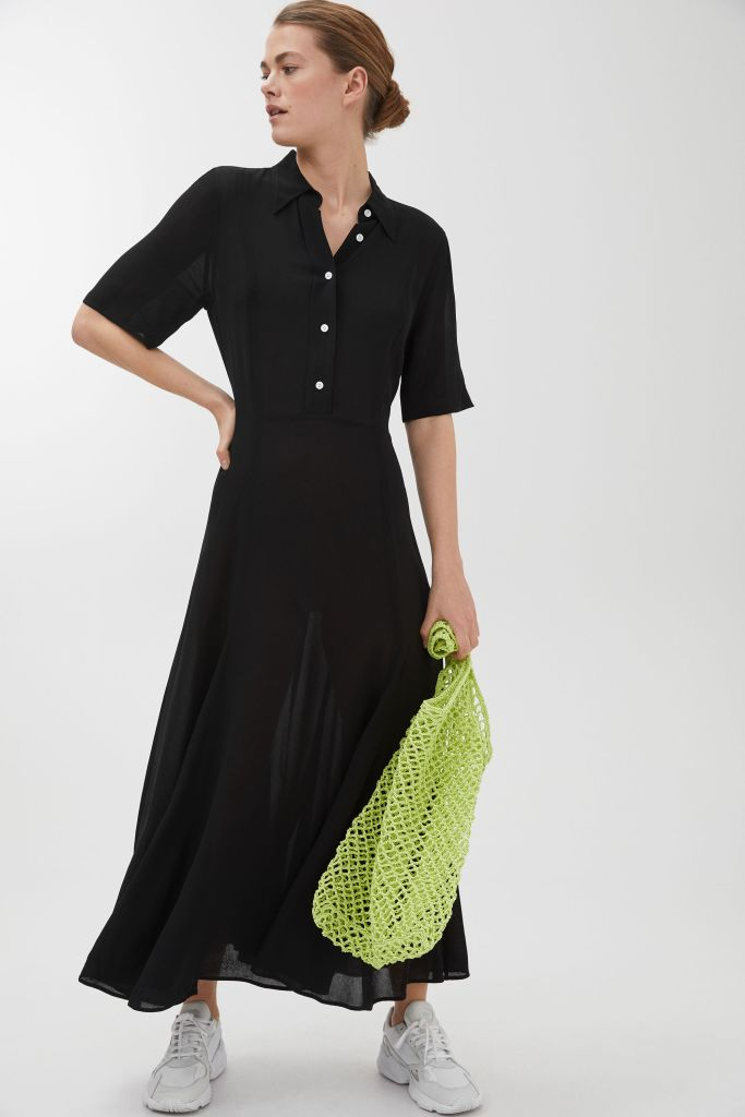 Arket short sleeve crepe dress £99