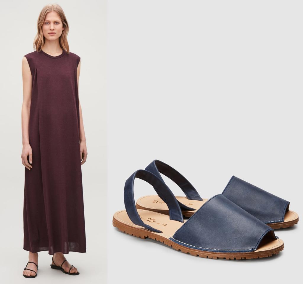 Cos dress & Next sandals