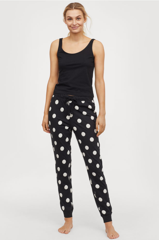 H&M polka dot pyjama bottoms £9.99