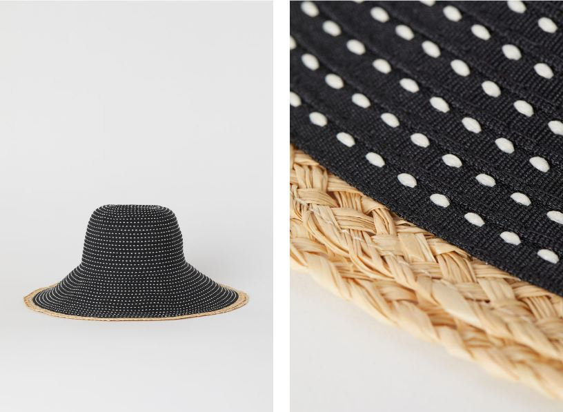 H&M sun hat with straw detail £9.99
