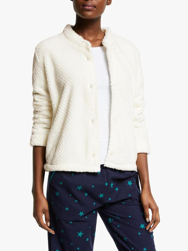 John Lewis & Partners Waffle Shawl Collar Bed Jacket £29