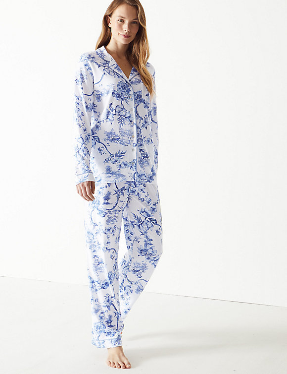 M&S Cool Comfort Cotton Modal Floral Pyjama Set £25